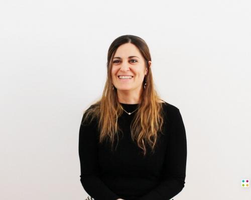 Foto di Maria Montuschi, logopedista di Parole Tue e partner del progetto MOSAIC, durante le riprese del video