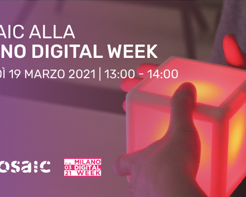 Mosai partecipa alla milano digital week 2021